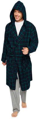 STAFFORD Stafford Men's Flannel Hooded Robe