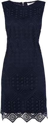 Wallis PETITE Navy Geometric Lace Shift Dress