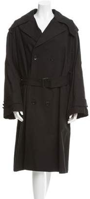 Yohji Yamamoto Double-Breasted Trench Coat w/ Tags $795 thestylecure.com