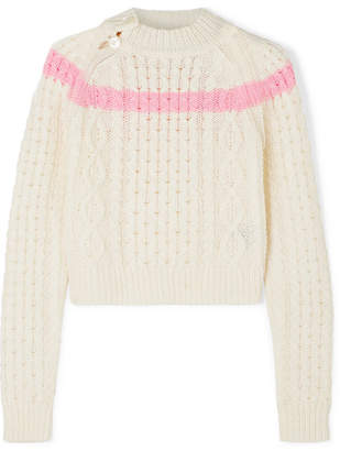 Preen Line Jessica Striped Cable-knit Sweater
