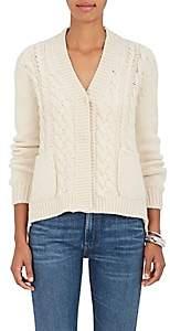 Barneys New York Women's Mixed-Stitch Cashmere Cardigan-Cream