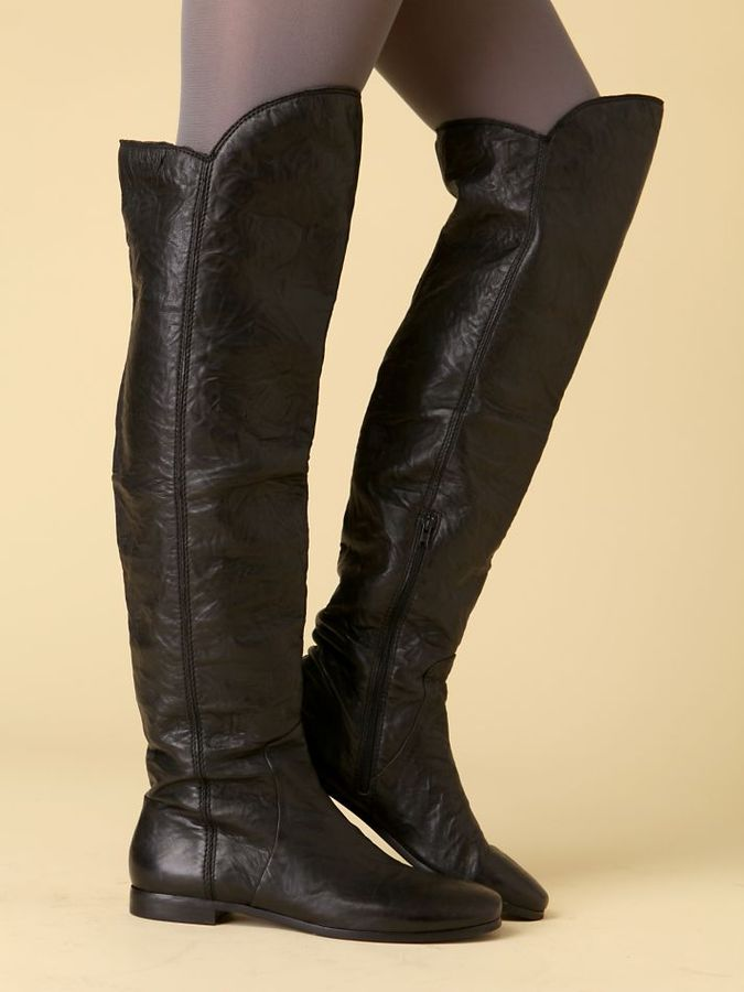 Over The Knee Flat Boot by Modern Vintage