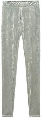 H&M Crushed Velvet Leggings - Gray