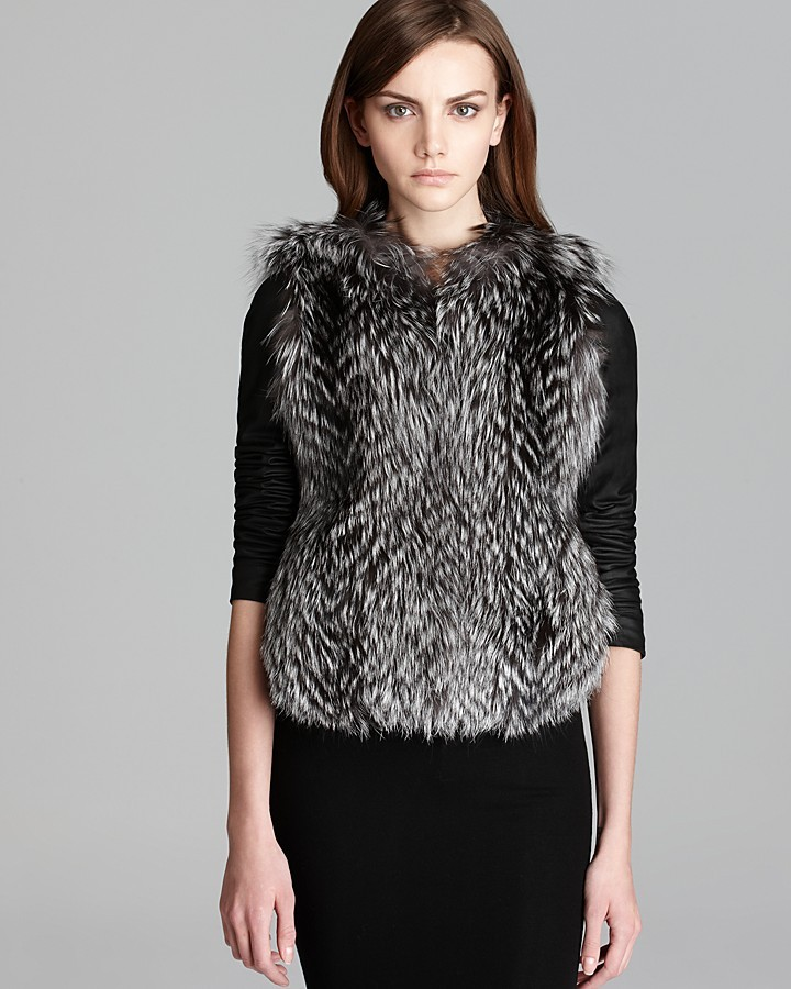 Vince Jacket - Fox Fur Leather Sleeve