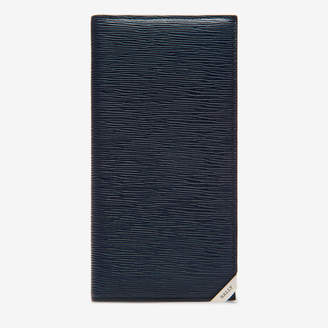 Baliro Blue, Men's embossed calf leather continental wallet in ink