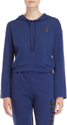 Juicy Couture Glitter Logo Pullover Hoodie