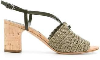 Casadei woven cork sandals