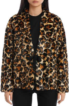 McQ Short Leopard Fur Co