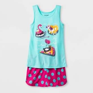 Cat & Jack Girls' Pajama Set - Cat & JackTM Aqua