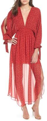MISA LOS ANGELES Andra Plunging Maxi Dress
