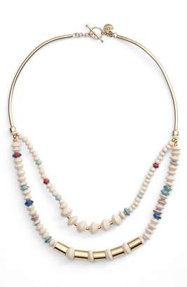 3.1 Phillip Lim Bits Goldsweep Paper Bead Necklace