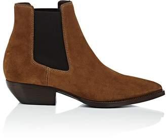 Saint Laurent Men's Theo Suede Chelsea Boots