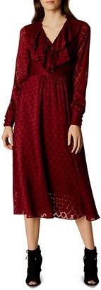 KAREN MILLEN Ruffle Midi Dress $399 thestylecure.com