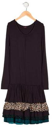 Imoga Girls' Tiered Printed Dress w/ Tags