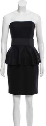 Michael Kors Wool-Blend Strapless Dress