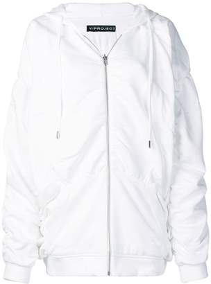 Y/Project ruched zipped hoodie