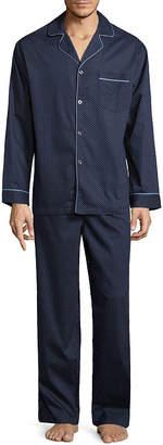 STAFFORD Stafford Men's Sateen Long Sleeve/Long Leg Pajama Set