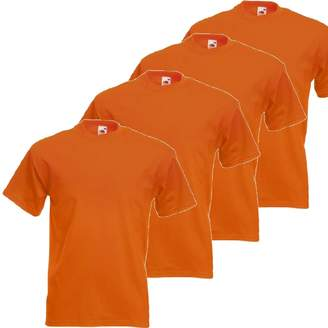 Fruit of the Loom RyteApparel Mens 4 Pack Heavy Cotton Short Sleeve T Shirt