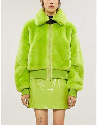Selfridges Kirin Peggy Gou Slim-fit high-waist latex mini skirt