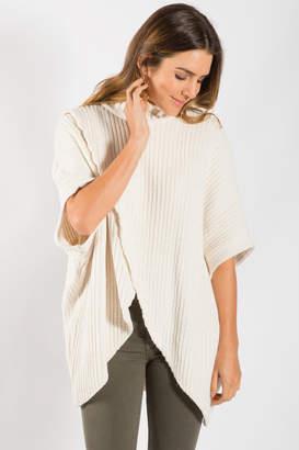 Elan International Overlap Front Sweater