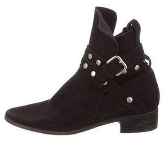 See by Chloe Suede Studded Mid-Calf Boots