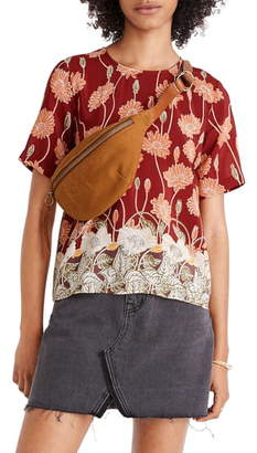 Madewell Silk Button-Back Pocket Top