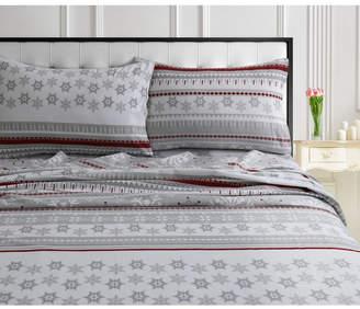Marwah Corporation/tribeca Living Snowmitten 170-gsm Cotton Flannel Printed Extra Deep Pocket Queen Sheet Set Bedding