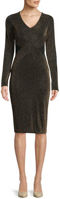 Rachel Roy Sparkle Stripe Knit Sheath Dress