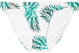 Vix Aloe Bia Printed Bikini Briefs - Green