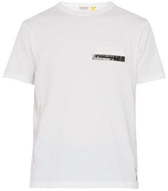 Moncler 7 Fragment - Logo Embossed Cotton T Shirt - Mens - White