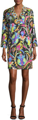 Etro Psychedelic Horse-Print Jersey Dress