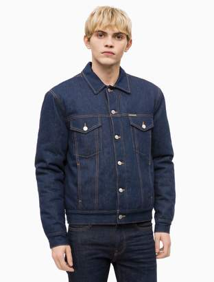Calvin Klein padded denim trucker jacket