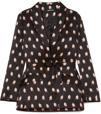 Markus Lupfer Sydney Printed Silk-satin Jacket - Black