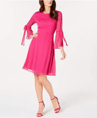 Nine West Bell-Sleeve Fit & Flare Dress