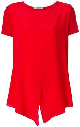 Max Mara asymmetric crossover blouse