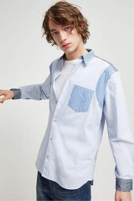French Connenction Outline Patchwork Shirt