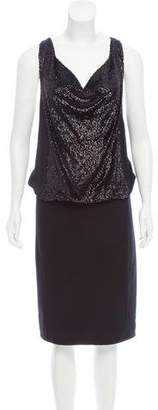 Tory Burch Sequin-Embellished Wool Dress