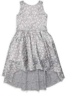 Shelley Zoe Girl's Web Brocade High-Low Dress