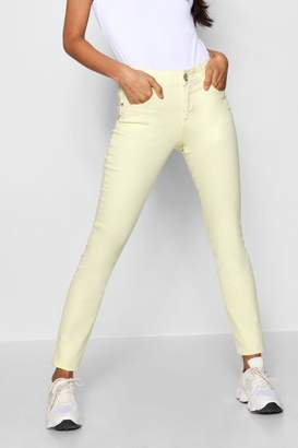 boohoo Lemon Denim Skinny Jeans