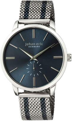 Johan Eric Men's Kolding Watch w\/ Mesh Strap Blue\/Silvertone