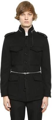 Alexander McQueen Wool & Cashmere Field Jacket W/ Zips
