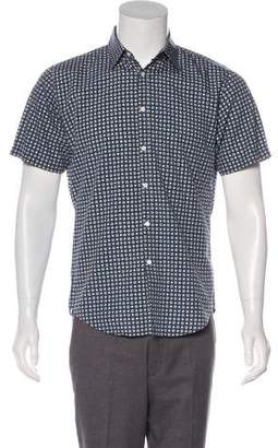 Burberry Floral Print Button-Up Shirt