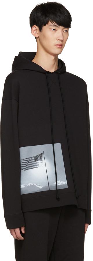 Raf Simons Black Robert Mapplethorpe Edition American Flag Hoodie 4