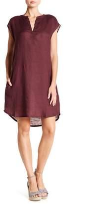Allen Allen Sleeveless Split Neck Linen Dress