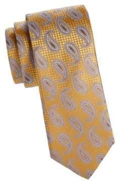 Canali Layered Paisley Print SIlk Tie