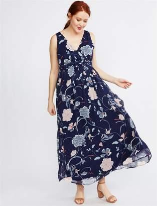 f4ff203c2b1eb Motherhood Maternity Floral Chiffon Maternity Maxi Dress