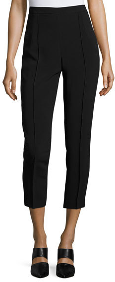 Andrew GnAndrew Gn Classic Cropped Side-Zip Pants, Black