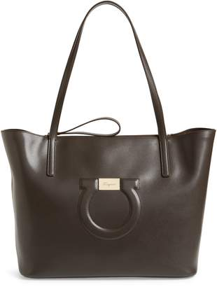 Salvatore Ferragamo City Quilted Gancio Leather Tote