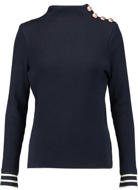 Petit Bateau Cotton Ribbed Cotton Sweater $119 thestylecure.com