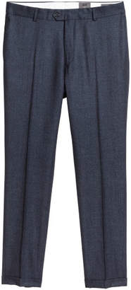 H&M Wool Suit Pants Slim fit - Blue
